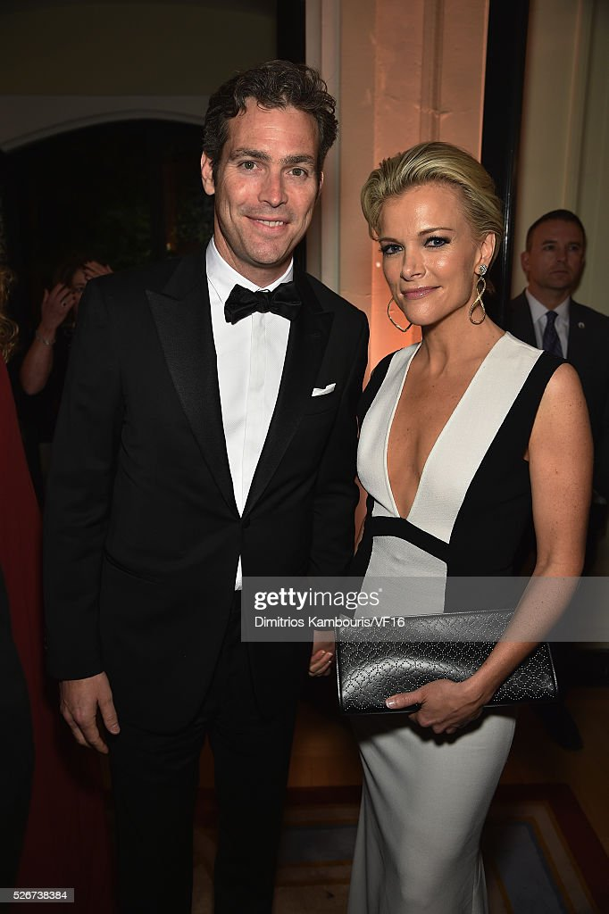 Douglas Brunt and Megyn Kelly attend the Bloomberg & Vanity Fair cocktail reception following the 2015 WHCA Dinner at the residence of the French Ambassador on April 30, 2016 in Washington, DC.