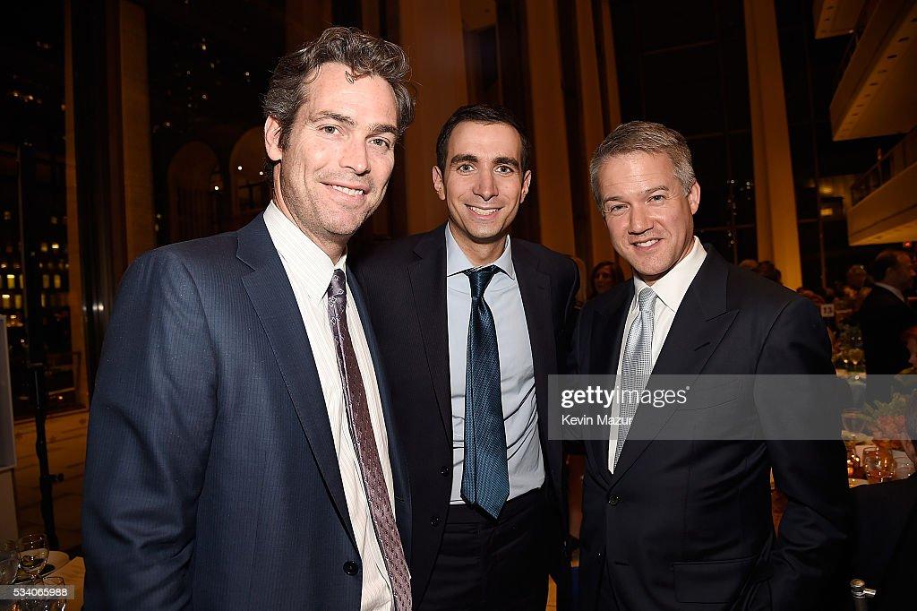 Douglas Brunt, Andrew Sorkin and Christopher Kojima attend New York Philharmonic's Spring Gala, A John Williams Celebration at David Geffen Hall on May 24, 2016 in New York City.