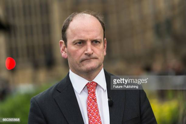 KINGDOM MARCH 29 Douglas Carswell MP speaks to the media outside Houses of Parliament on the day of triggering Article 50 of the Lisbon Treaty and...