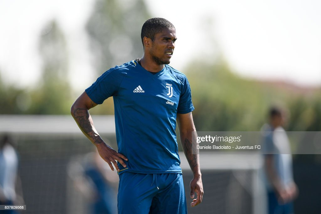 Douglas Costa at Juventus Center Vinovo on August 23, 2017 in Vinovo, Italy.
