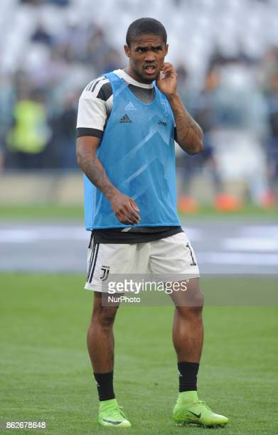 Douglas Costa De Souza of Juventus player during the warmup before the match valid for Italian Football Championships Serie A 20172018 between FC...