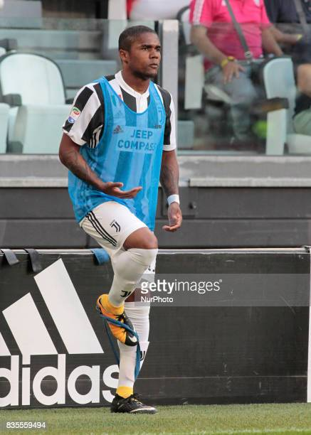 Douglas Costa during Serie A match between Juventus v Cagliari in Turin on August 19 2017