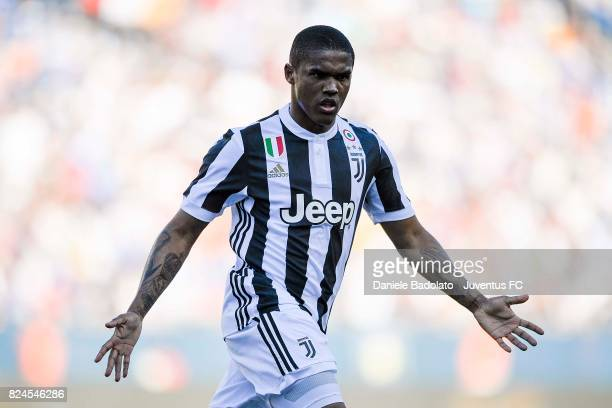 Douglas Costa during the International Champions Cup 2017 match between AS Roma and Juventus at Gillette Stadium on July 30 2017 in Foxboro...