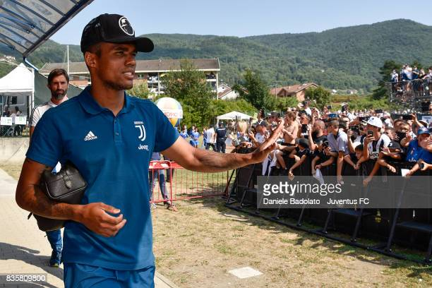 Douglas Costa during the preseason friendly match between Juventus A and Juventus B on August 17 2017 in Villar Perosa Italy
