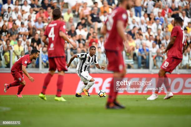Douglas Costa during the Serie A match between Juventus and Cagliari Calcio at Allianz Stadium on August 19 2017 in Turin Italy