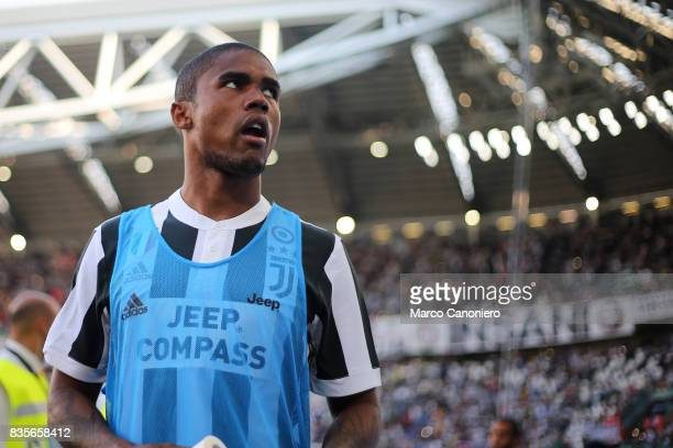 Douglas Costa of Juventus FC looks on before the Serie A football match between Juventus FC and Cagliari Calcio Juventus Fc wins 30 over Cagliari...