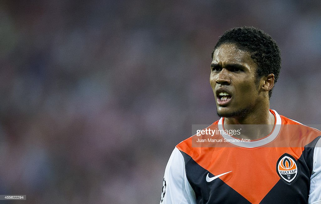 Douglas Costa ofÊShakhtar DonetskÊreacts during the UEFA Champions League Group H match between Athletic Club and Shakhtar DonetskÊat San Mames...