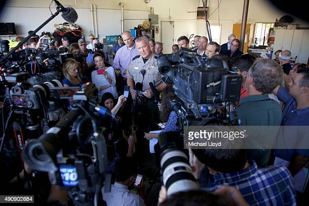 Douglas County Sheriff John Hanlin speaks at a press conference October 1 2014 in Roseburg Oregon Hanlin confirmed that 10 people were killed when a...