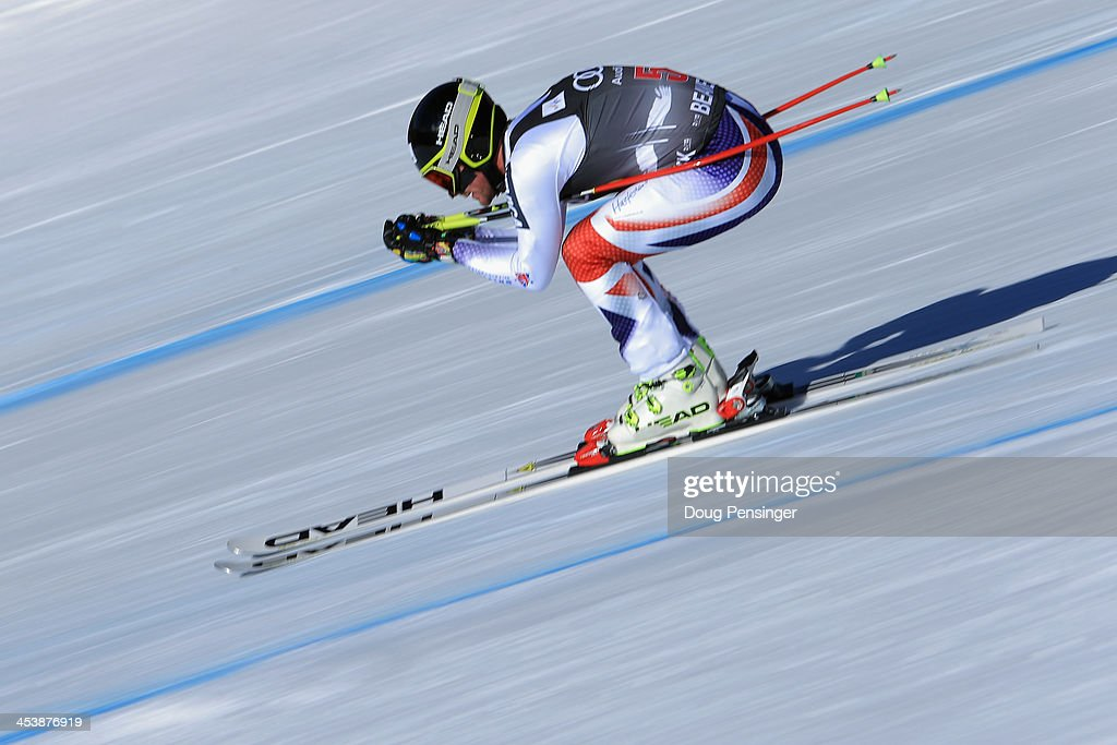Douglas Crawford of Great Britain in action during downhill training for the Birds of Prey Audi FIS Ski World Cup on December 5, 2013 in Beaver Creek, Colorado.