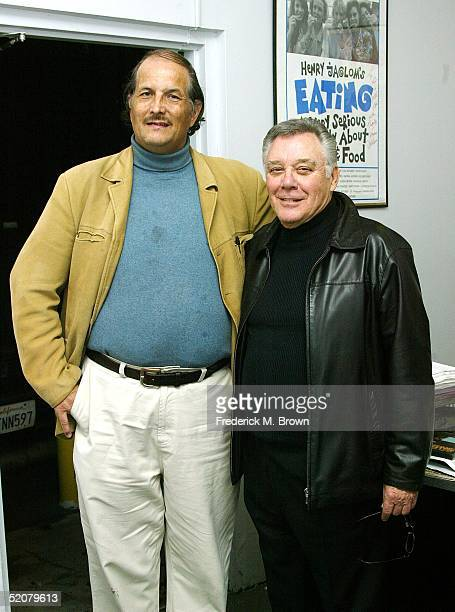Douglas Dunning and actor Michael Callan attend the Ray Harryhausen DVD Video signing at Rocket Video on January 28 2005 in Los Angeles California