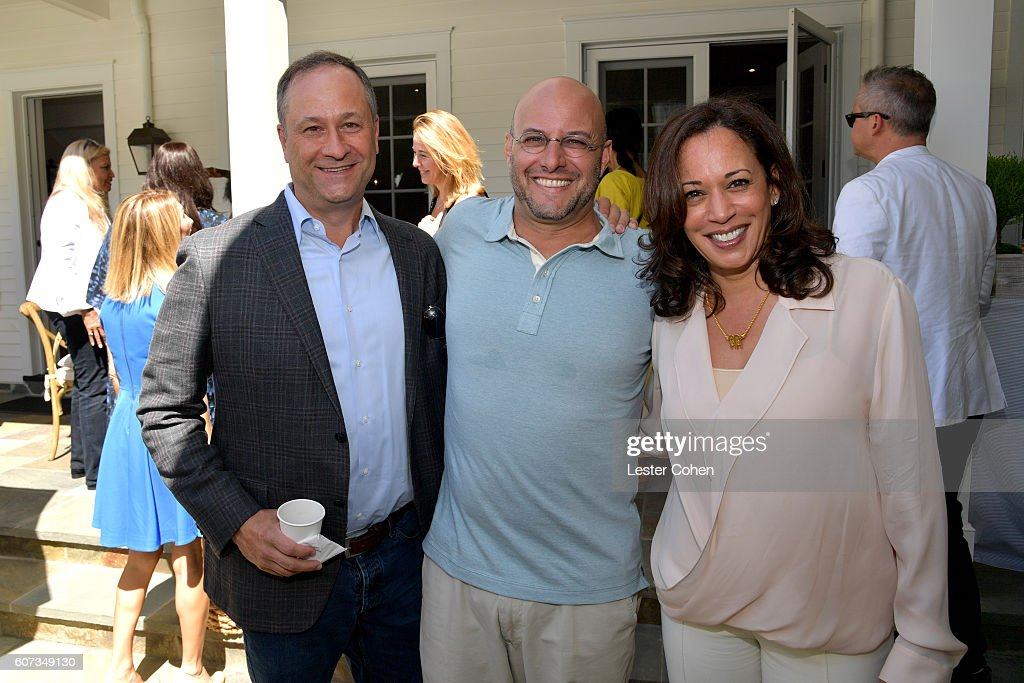 Douglas Emhoff, ICM Partners' Chris Silbermann and Attorney General of California Kamala Harris at the ICM Partners Pre-Emmy Brunch on September 17, 2016 in Santa Monica, California.