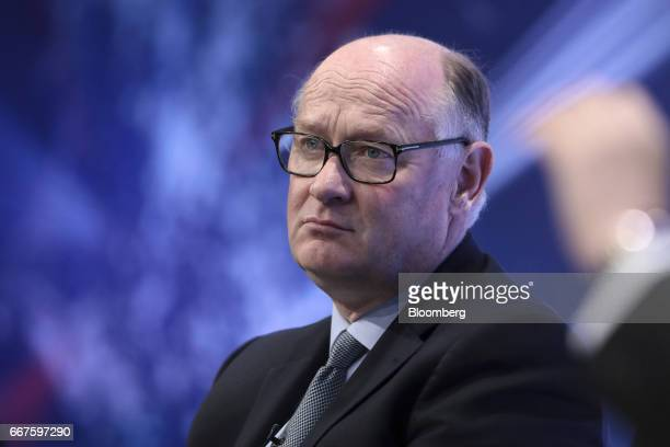 Douglas Flint chairman of HSBC Holdings Plc looks on during the International Fintech Conference in London UK on Wednesday April 12 2017 Bank of...