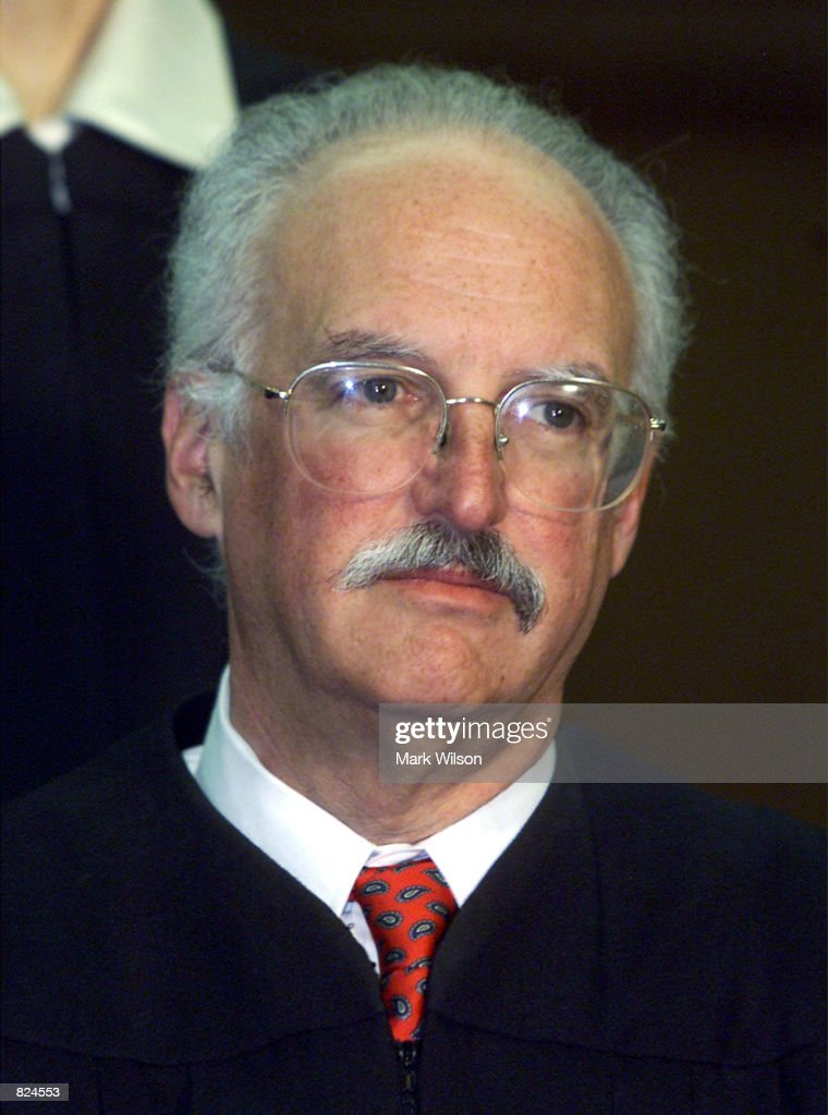 Douglas Ginsburg one of seven Judges hearing arguments in United States v Microsoft Corporation in the US Court of Appeals poses for a photo February...