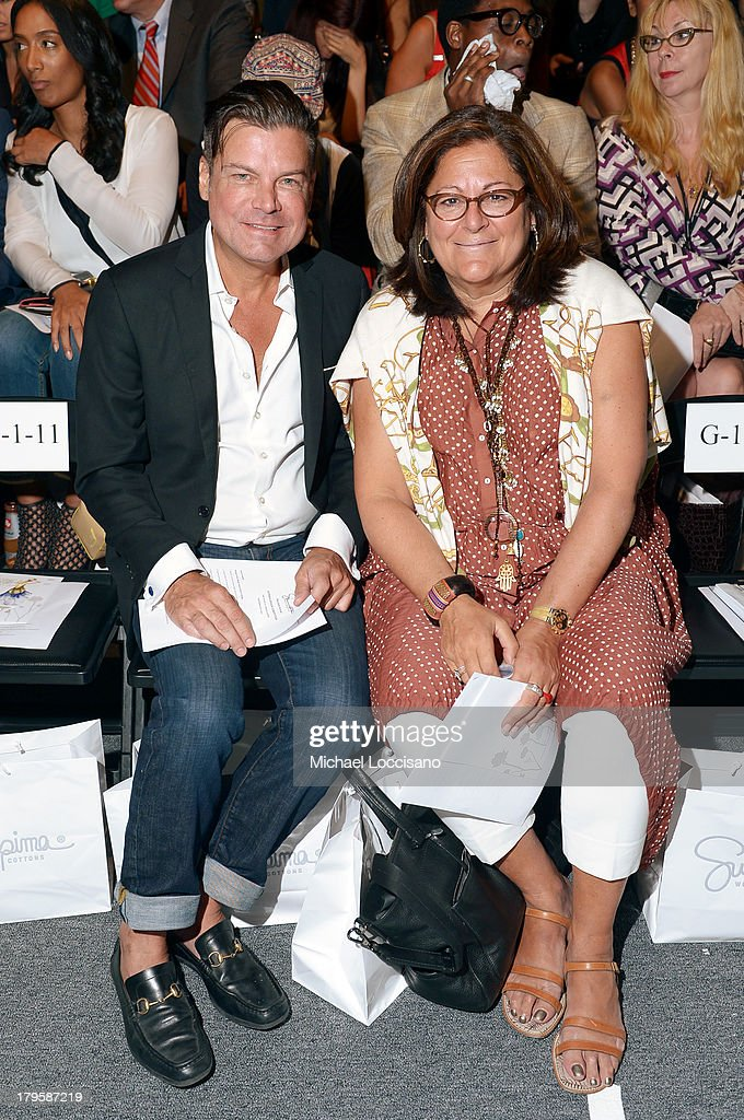 Douglas Hannant (L) and <a gi-track='captionPersonalityLinkClicked' href=/galleries/search?phrase=Fern+Mallis&family=editorial&specificpeople=201774 ng-click='$event.stopPropagation()'>Fern Mallis</a> attend the Supima Spring 2014 fashion show during Mercedes-Benz Fashion Week at The Studio at Lincoln Center on September 5, 2013 in New York City.