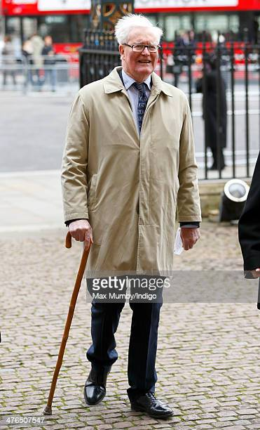 Douglas Hurd attends a National Service of Thanksgiving to celebrate the life of Nelson Mandela at Westminster Abbey on March 3 2014 in London England