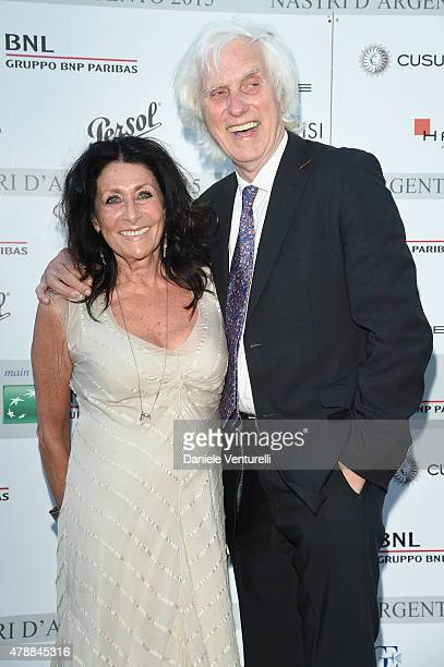 Douglas Kirkland and Francoise Kirkland attend the Nastri D'Argento Awards 2015 Coktail on June 27 2015 in Taormina Italy