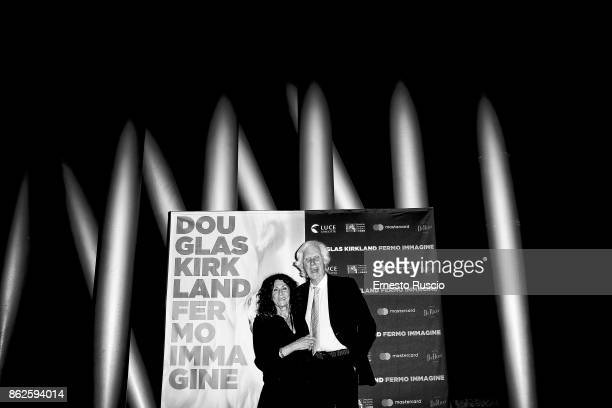 Douglas Kirkland and Franoise Kirkland attend 'Douglas Kirkland Fermo Immagine' exhibition opening at MAXXI Museum on October 17 2017 in Rome Italy