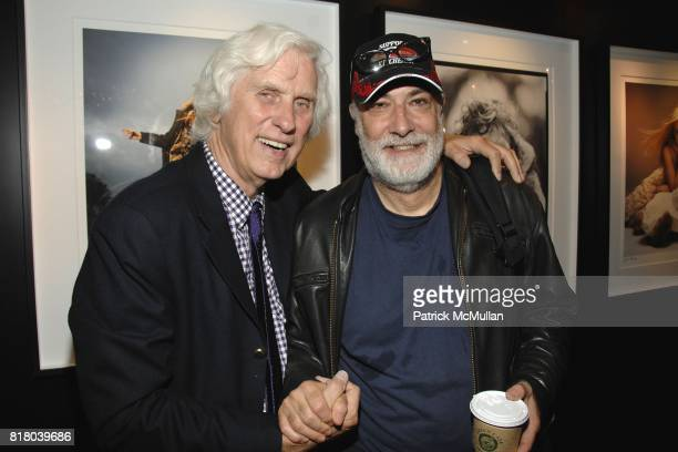 Douglas Kirkland and John Simon attend Woolrich John Rich Bro's Photo Exhibition with Douglas Kirkland at Bloomingdales on September 16 2010 in New...