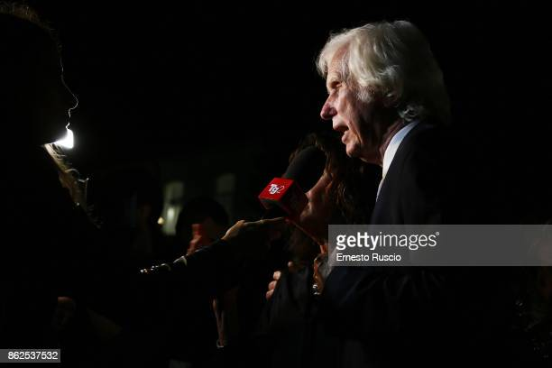 Douglas Kirkland attends 'Douglas Kirkland Fermo Immagine' exhibition opening at MAXXI Museum on October 17 2017 in Rome Italy