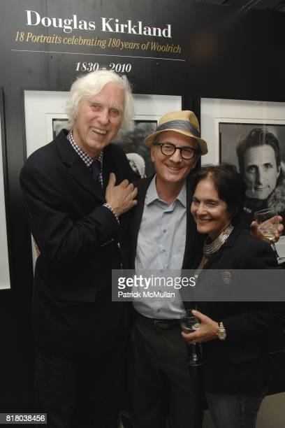 Douglas Kirkland Tom Houghton and Janet Foreman attend Woolrich John Rich Bro's Photo Exhibition with Douglas Kirkland at Bloomingdales on September...