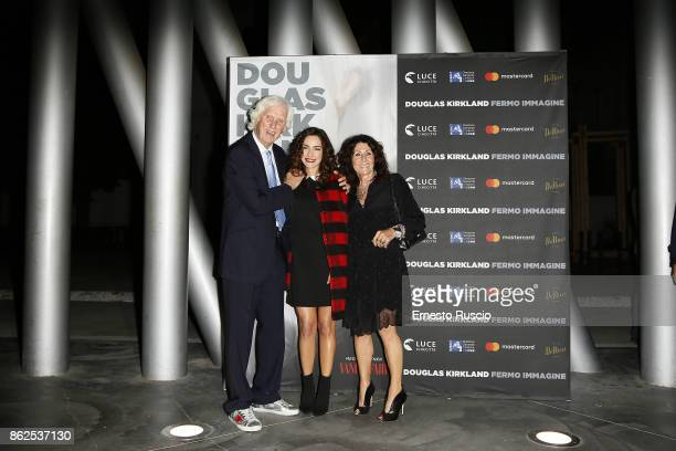 Douglas Kirkland Valentina Corti and Franoise Kirkland attend 'Douglas Kirkland Fermo Immagine' exhibition opening at MAXXI Museum on October 17...