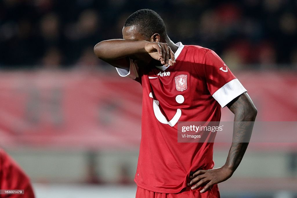 Douglas of FC Twente (R) during the Dutch Eredivisie match between FC Twente and Ajax Amsterdam at the Grolsch Veste on march 02, 2013 in Enschede, The Netherlands