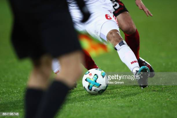 Douglas Santos of Hamburg is challenged by Pascal Stenzel of Freiburg during the Bundesliga match between SportClub Freiburg and Hamburger SV at...