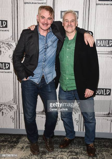 Douglas Sills and John Dossett attend the Build Series to discuss the broadway show 'War Paint' at Build Studio on April 11 2017 in New York City