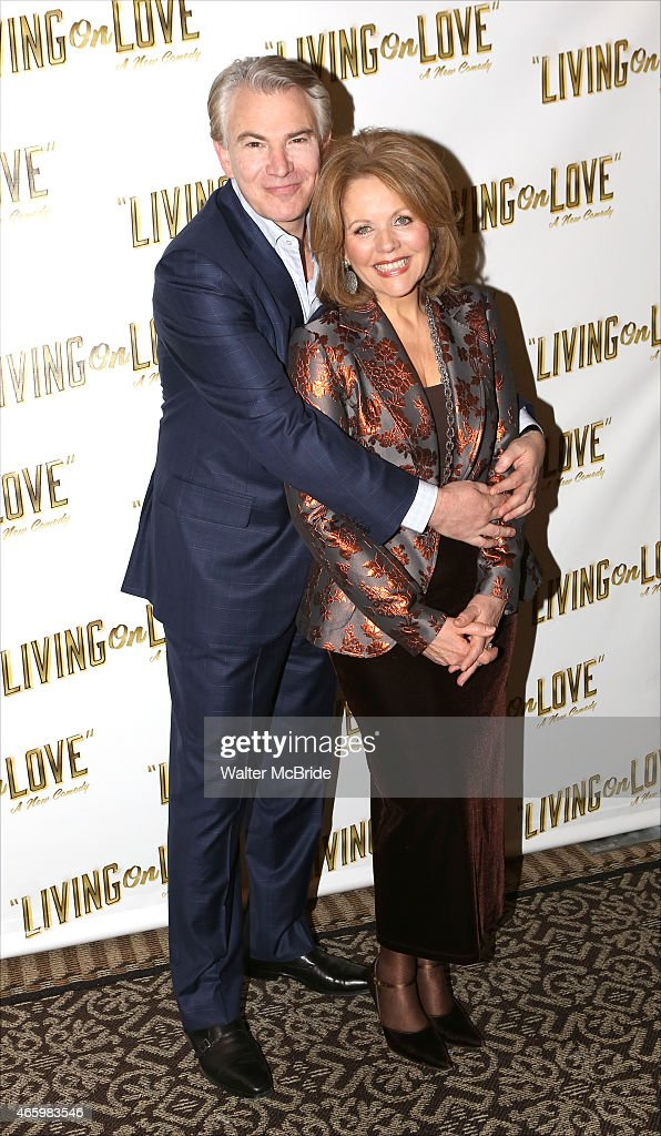 Douglas Sills and Renee Fleming attend the 'Living on Love' photo call at the Empire Hotel on March 12 2015 in New York City