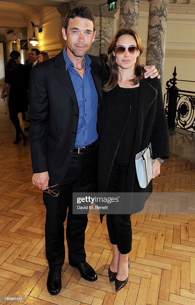 Dougray Scott (L) and Claire Forlani attend the Anya Hindmarch presentation during London Fashion Week SS14 at Central Hall Westminster on September 17, 2013 in London, England.