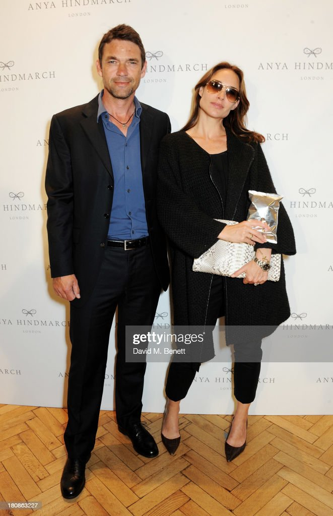 Dougray Scott (L) and Claire Forlani attends the Anya Hindmarch presentation during London Fashion Week SS14 at Central Hall Westminster on September 17, 2013 in London, England.