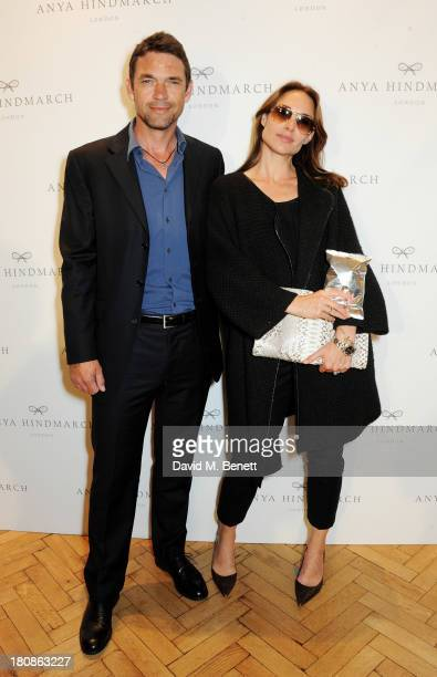 Dougray Scott and Claire Forlani attends the Anya Hindmarch presentation during London Fashion Week SS14 at Central Hall Westminster on September 17...
