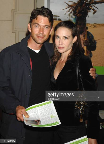 Dougray Scott and Claire Forlani during MySpace Presents Rock for Darfur Party Benefiting Oxfam America at Private Estate in Beverly Hills California...