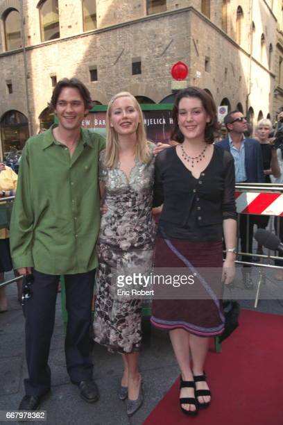Dougray Scott Megan Dodds and Melanie Lynskey the movie's costars arrive at the Teatro Odeon