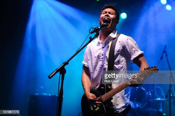 Dougy Mandagi from Temper Trap performs during the 2010 Bonnaroo Music and Arts Festival Day 1 on June 10 2010 in Manchester Tennessee