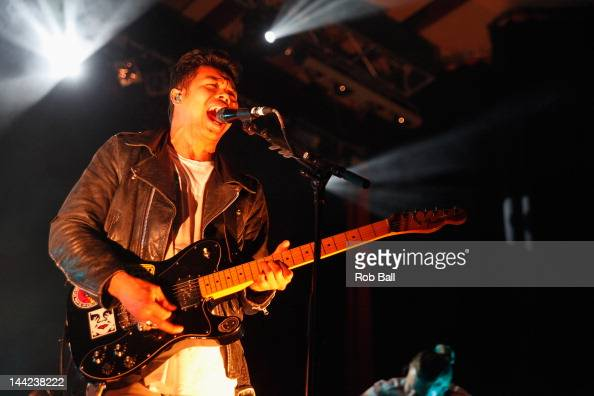 Dougy Mandagi from the Temper Trap performs at The Great Escape Festival on May 11 2012 in Brighton England
