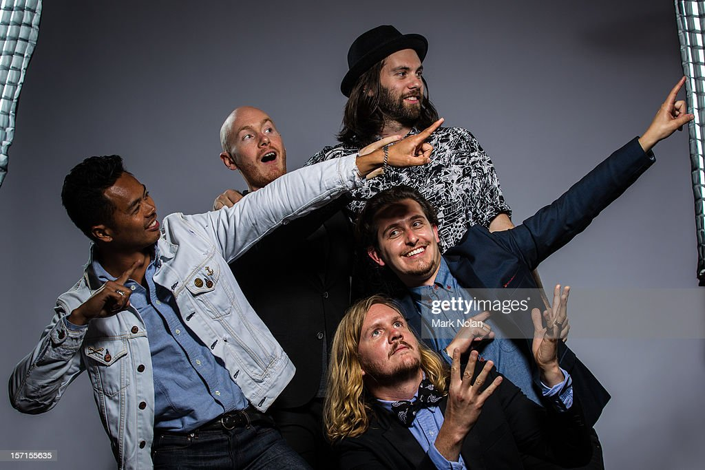 Dougy Mandagi Joseph Greer Toby Dundas Lorenzo Sillitto and Johnny Aherne of The Temper Trap pose after winning the ARIA Award for Best Rock Release...