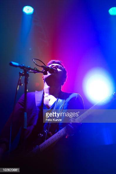 Dougy Mandagi of australian alternative rock band The Temper Trap performs on day 4 at the 40th Roskilde Festival on July 4 2010 in Roskilde Denmark