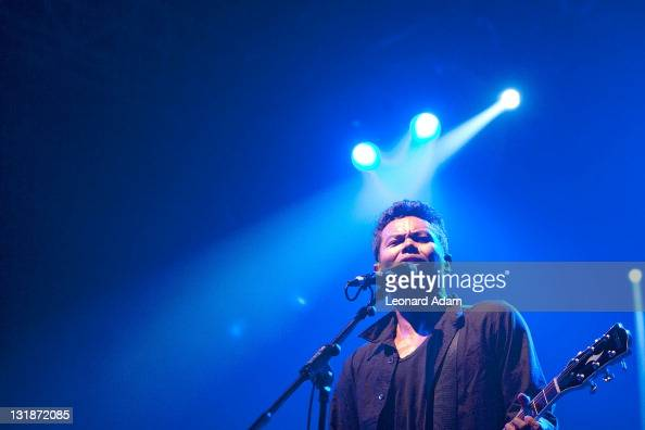 Dougy Mandagi of The Temper Trap performs at Tennis Indoor Senayan on November 12 2010 in Jakarta Indonesia The Temper Trap was the recipient of two...