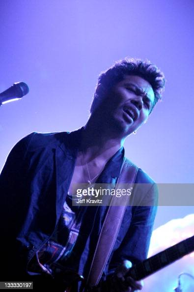 Dougy Mandagi of The Temper Trap performs on night two of KROQ Almost Acoustic Christmas at Gibson Amphitheatre on December 12 2010 in Universal City...