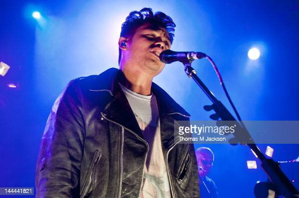 Dougy Mandagi of The Temper Trap performs on stage at University Of Northumbria on May 13 2012 in Newcastle upon Tyne United Kingdom
