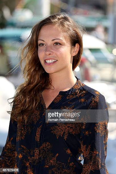 Dounia Coesens of 'Plus Belle La Vie' attends a photocall as part of the 17th Festival of TV Fiction of La Rochelle on September 10 2015 in La...