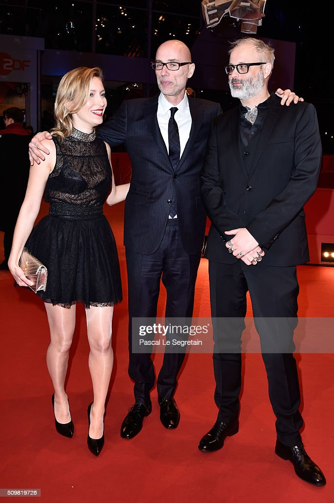 Dounia Sichov, James Hyndman and Denis Cote attend the 'Boris without Beatrice' (Boris sans Beatrice) premiere during the 66th Berlinale International Film Festival Berlin at Berlinale Palace on February 12, 2016 in Berlin, Germany.