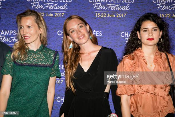 Dounia Sichov Laetitia Dosch and MarieLouise Khondji attend the 6th 'ChampsElysees Film Festival' at Cinema Gaumont Marignan on June 15 2017 in Paris...