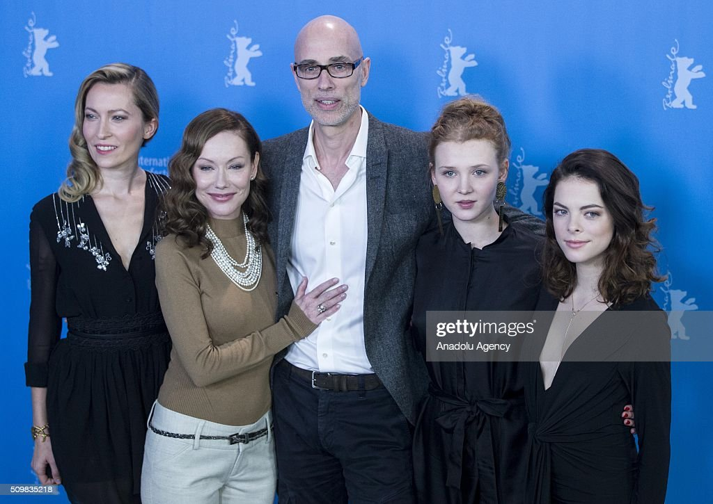 Dounia Sichov, Simone-Elise Girard, James Hyndman, Isolda Dychauk and Laetitia Isambert-Denis attend the 'Boris without Beatrice' (Boris sans Beatrice) photo call during the 66th Berlinale International Film Festival Berlin at Grand Hyatt Hotel on February 12, 2016 in Berlin, Germany.