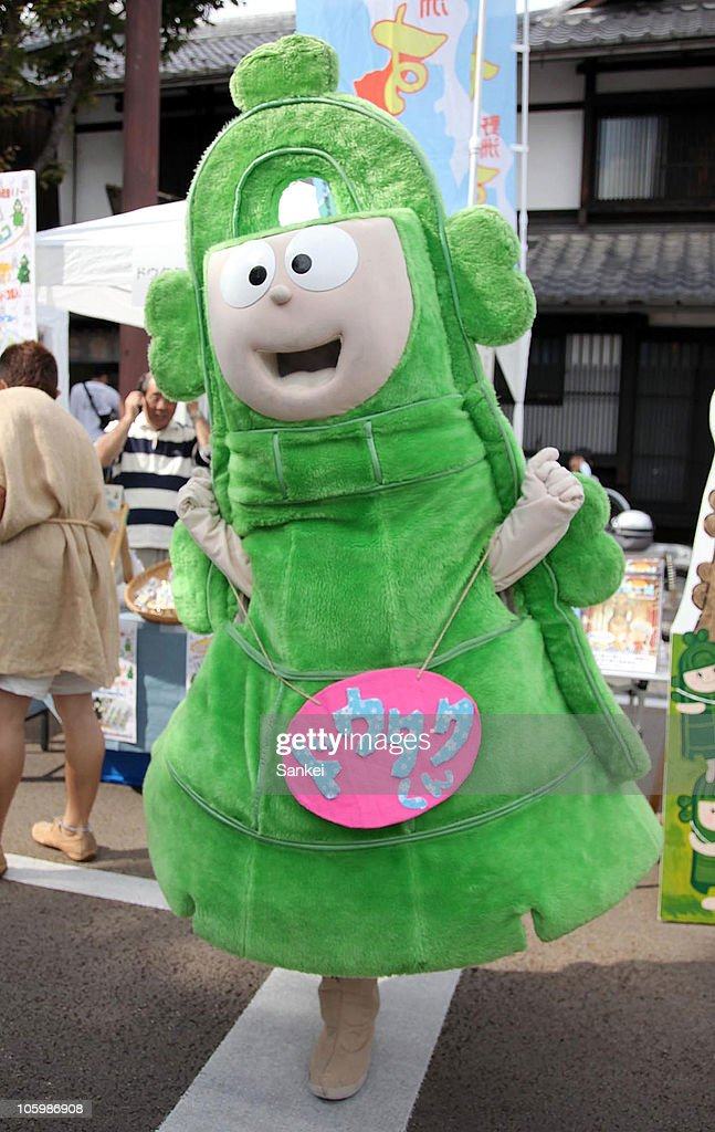 Doutaku-kun, the mascot of Yasu City, Shiga is seen during the 'Yuru Chara Festival in Hikone' at Yumekyobashi Castle Road on October 23, 2010 in Hikone, Shiga, Japan. Yuru Chara, abbreviation of 'Yurui (unserious or relaxing)' and 'Character', are mascots of local governments, companies etc. The festival attracts 35,000 Yuru Chara fans.