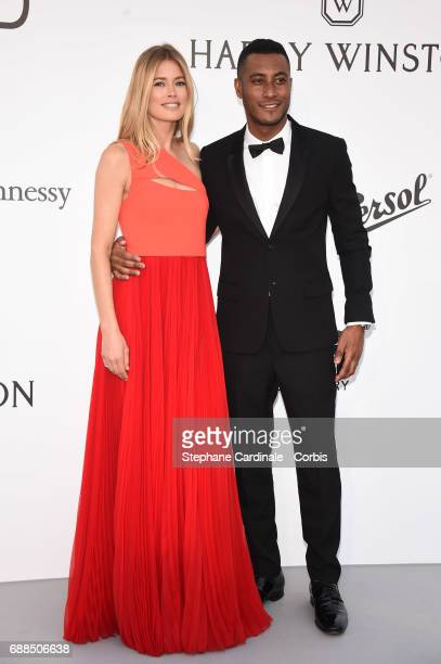 Doutzen Kroes and Sunnery James arrives at the amfAR Gala Cannes 2017 at Hotel du CapEdenRoc on May 25 2017 in Cap d'Antibes France