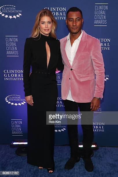 Doutzen Kroes and Sunnery James attend the 10th Annual Clinton Global Citizen Awards at Sheraton New York Times Square on September 19 2016 in New...