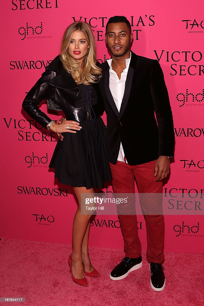 Doutzen Kroes and Sunnery James attend the after party for the 2013 Victoria's Secret Fashion Show at TAO Downtown on November 13, 2013 in New York City.