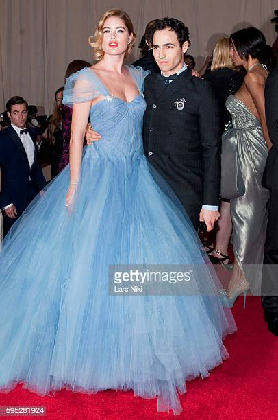 Doutzen Kroes and Zac Posen attends 'American Woman Fashioning A National Identity' Costume Institute Gala at The Metropolitan Museum of Art in New...
